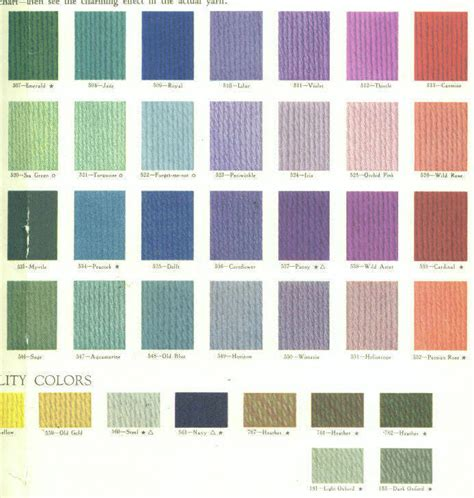 1929 fleisher yarn color chart