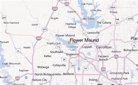 flower mound map flower mound weather station record historical weather