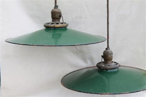 vintage gas station lights antique industrial lights w gas station green porcelain