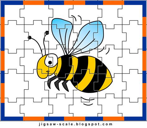 printable photo jigsaw puzzle maker printable jigsaw puzzle for kids bee jigsaw