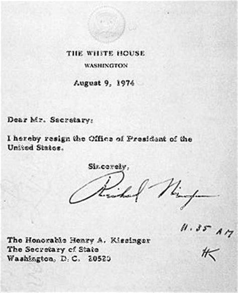 Resignation Letter President President Nixon S Resignation Letter