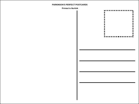 esl card and templates postcard template