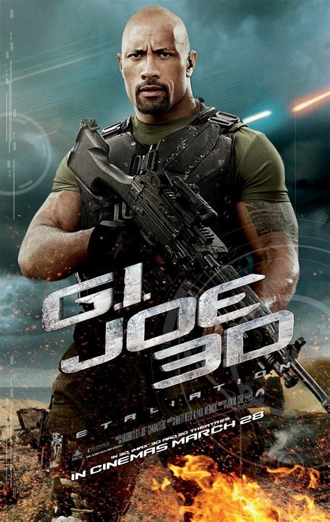 film action dwayne johnson new international poster for g i joe retaliation