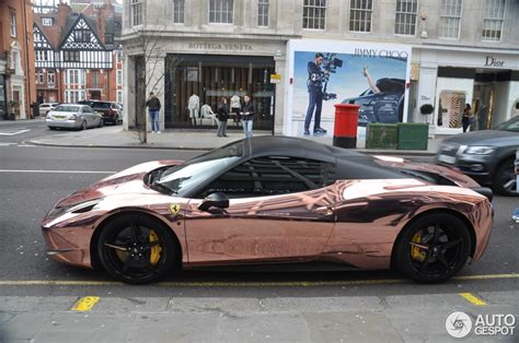 rose gold maserati car ferrari 458 spider 7 april 2015 autogespot