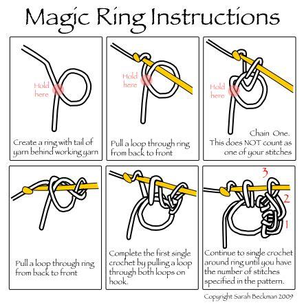 crochet pattern magic ring crochet instruction stellar babble