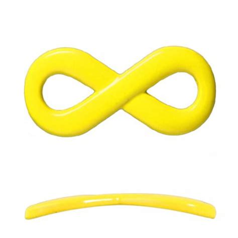 colored infinity infinity link colored coating yellow 20x35mm buy