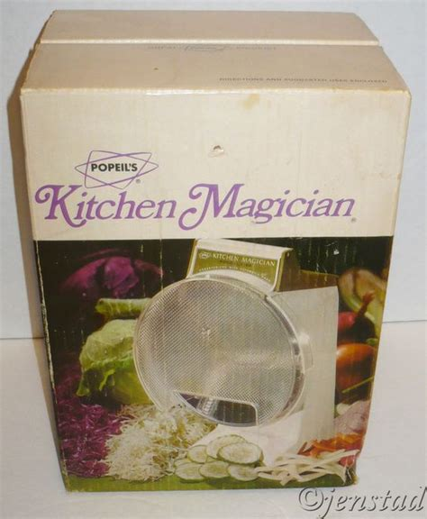 Kitchen Magician 1970s manual and food on