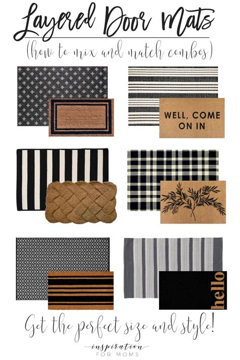 layered door mats   mix  match inspiration