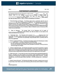 Legal Partnership Agreement Template create a partnership agreement general limited llp