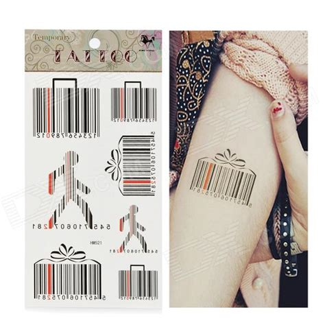 tattoo paper review hm521 bar code pattern tattoo paper sticker black free