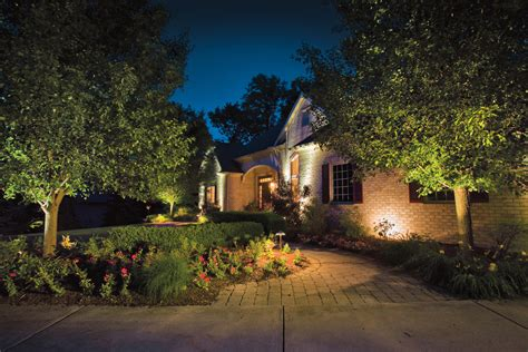 kichler landscape lighting to the garden design ward log homes