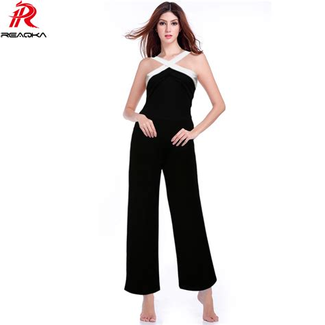 new women s jumpsuits shorts rompers halter top backless reaqka rompers womens jumpsuit 2016 hot black white