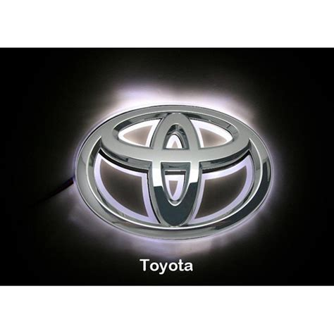 toyota camry logo led car logo white light for toyota 08 camry corolla head