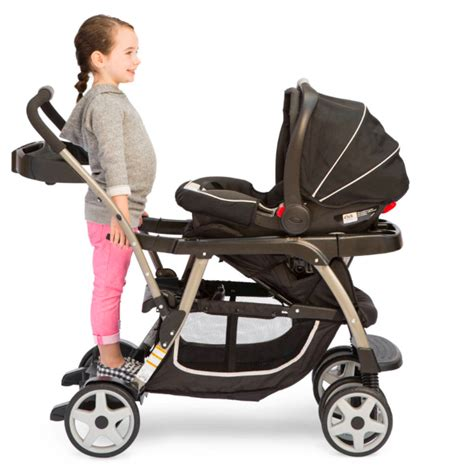 coche graco readygrow click connect stand ride onyx