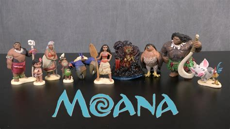 moana boat playset disney moana deluxe figurine playset from the disney store