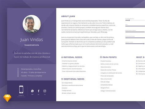 Freebie User Persona Template By Jason Fallas Dribbble User Persona Template