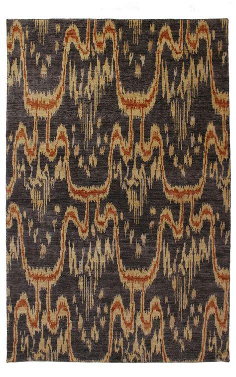 ikat rugs australia modern rugs ikat 833 black modern rug rugspot