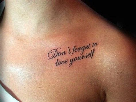 tattoo font for quotes don t forget to love yourself tattoo quotes tattoos