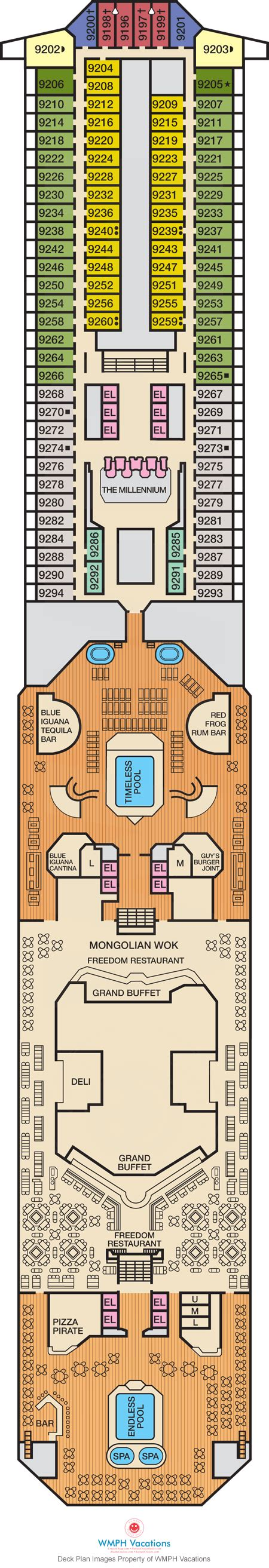 carnival freedom floor plan carnival freedom deck plans lido deck what s on lido