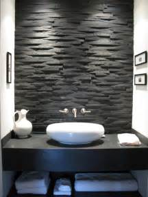 Black stone wall home design ideas pictures remodel and decor