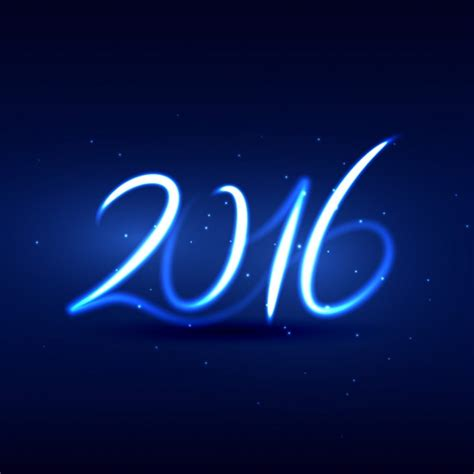 new year 2016 vector free neon style happy new year 2016 card vector free