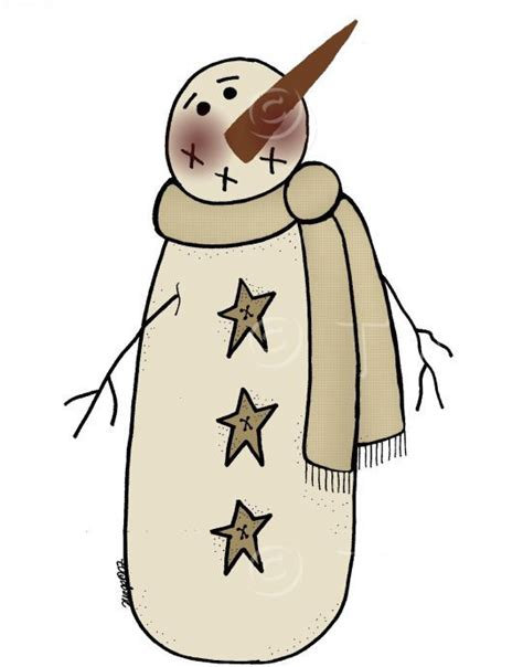 Country Snowman Clipart 25 best ideas about primitive patterns on