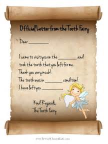 letter from the tooth template tooth letter free printable