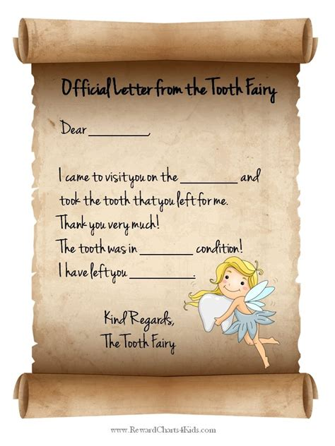 free printable letters to the tooth fairy tooth fairy letter free printable