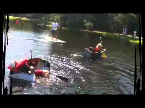 cardboard boat race fails duct tape cardboard boat race fail youtube