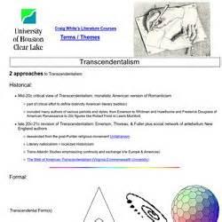 themes of transcendentalism definition transcendentalism pearltrees
