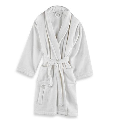 bathrobe bed bath and beyond wamsutta 174 unisex terry bathrobe in white bed bath beyond