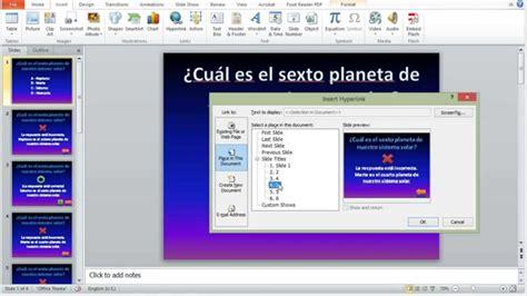 como hacer una presentacion en powerpoint c 243 mo hacer una presentaci 243 n interactiva en power point