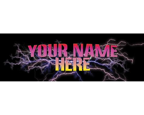 Your Name Or Text custom marquee add your name or company text anything
