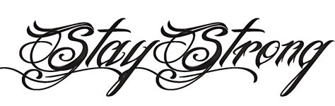 tattoo word png pack png del tatto stay strong de demi lovato by