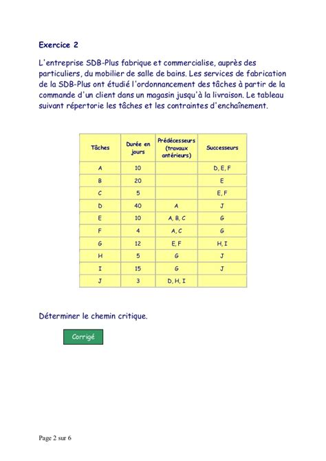 exercice diagramme de pert et gantt diagramme de gantt exercice images how to guide and refrence