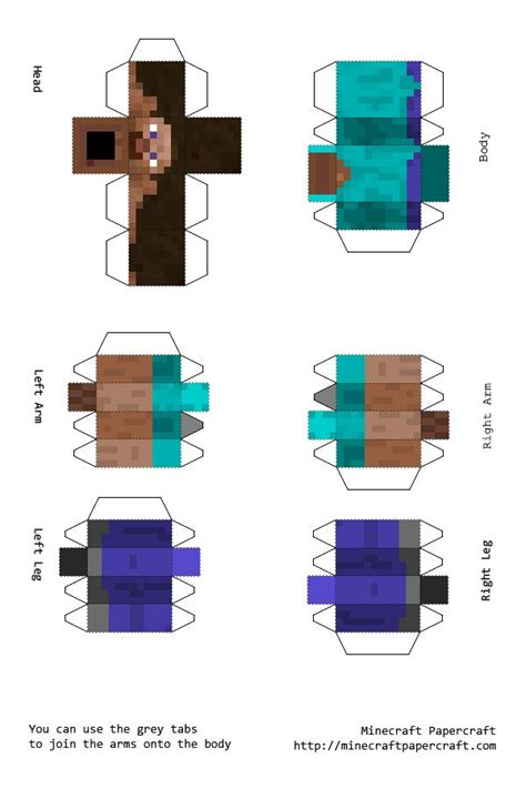 Minecraft Steve Papercraft Template - 15 best images about minecraft on other