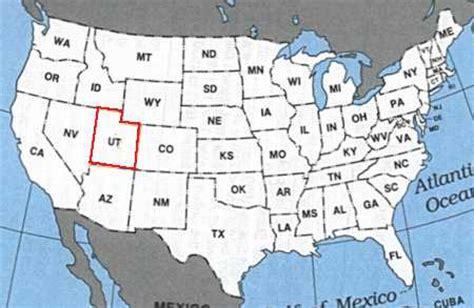 usa states map utah where is utah