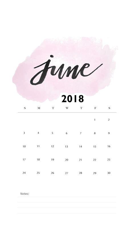 watercolor june  iphone calendar maxcalendars