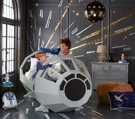 star wars toddler bed here s how much pottery barn s star wars millennium falcon