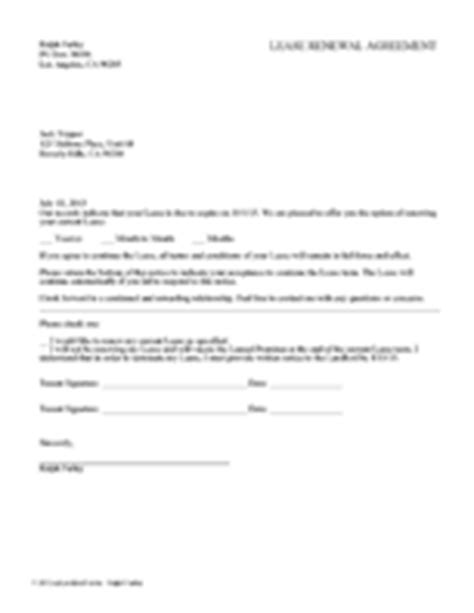 Letter To Renew Lease Agreement Landlord Tenant Notices Rental Property Notices Ez Landlord Forms