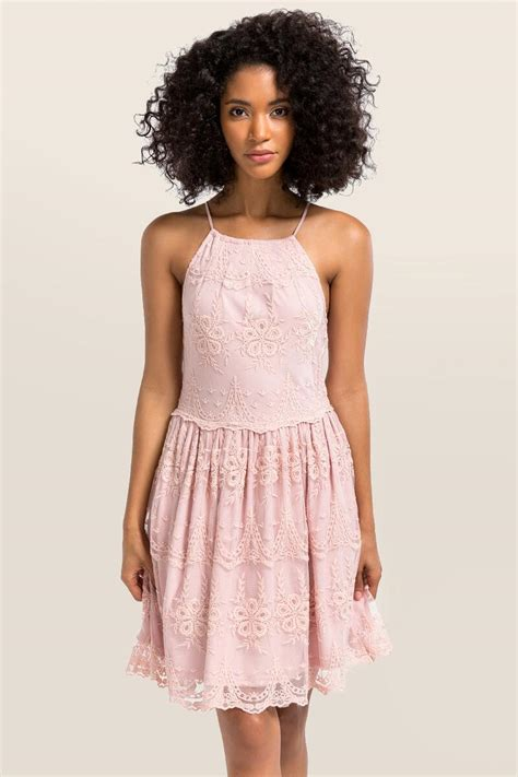 Dres Gisella Kid blush gisela lace dress s