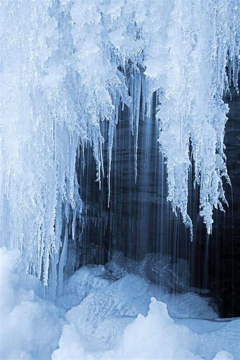 frozen waterfalls frozen waterfall flowers and trees pinterest
