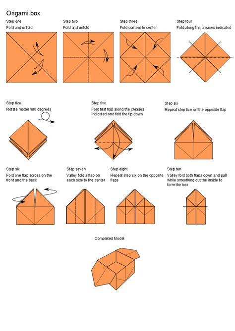How To Make Paper Origami Box - origami box diagram by alin463 on deviantart