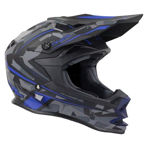 camo motocross helmet oneal new 2017 mx 7 series evo dirt bike camo matte blue