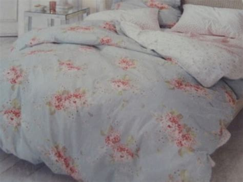 sale simply shabby chic hydrangea duvet cover set blue floral twin size bedding to best offer