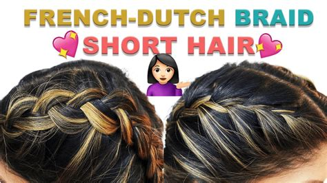 double dutchfrench braid  short hair hairstyle tutorial youtube