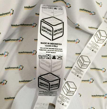 Bordir Label Baju pusat pembuatan label baju di jember terpercaya