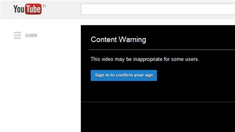 content warning how to watch age restricted videos on youtube without