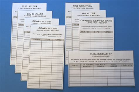 Vehicle Records Track And Organize Your Car Maintenance Records Chica And Jo
