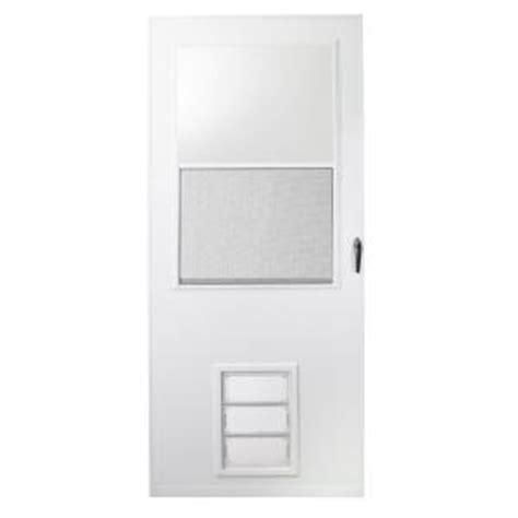Home Depot Pet Doors by Emco 36 In X 80 In K900 Series White Vinyl Self Storing